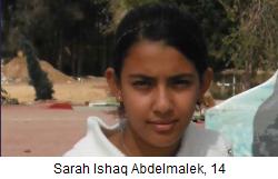 14 year old Sarah