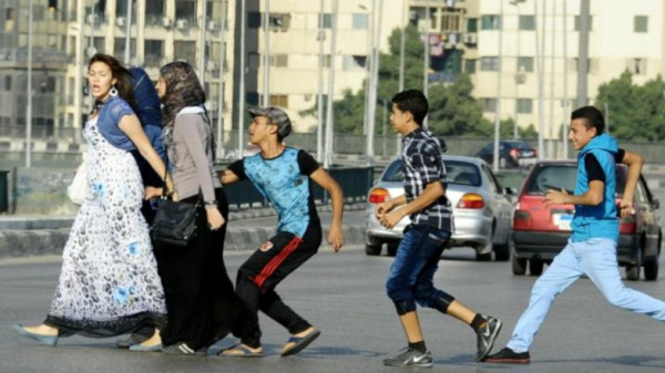 Egyptian women harassed